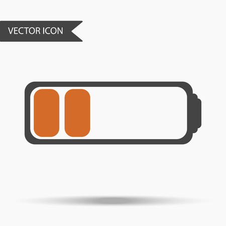 charged: A Vector business icon fully charged battery. Icon for for annual reports, charts, presentations, workflow layout, banner, number options, step up options, web design. Contemporary flat design