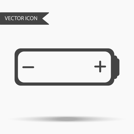 fully: A Vector business icon fully charged battery. Icon for for annual reports, charts, presentations, workflow layout, banner, number options, step up options, web design. Contemporary flat design.