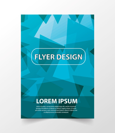 blank magazine: Business vector template is used for log, brochure, reports, title page, banner, book form, advertisement. Abstract blue background with lines format A4. Bright Flyer.