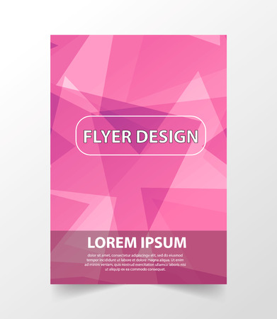 blank magazine: Business vector template is used for log, brochure, reports, title page, banner, book form, advertisement. Abstract pink background with lines format A4. Bright Flyer.