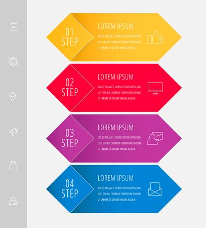 Vector infographic flat template. Rhombus with label for four diagrams, graph, flowchart, timeline, marketing, presentation. Business concept with 4 options  イラスト・ベクター素材