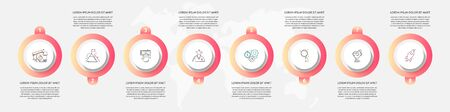 Vector template circle infographics. Business concept with 8 options and parts. Eight steps for graph, diagrams, slideshow
