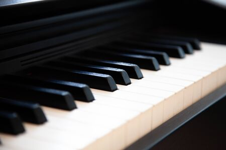 black white keys old for piano musicians