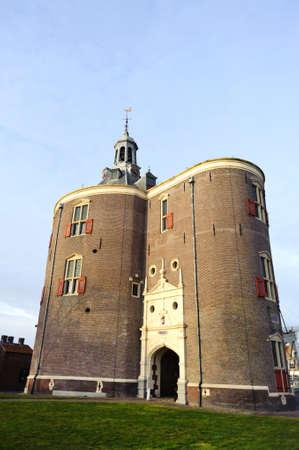 Historical old castle in Netherlands city Enkhuizen
