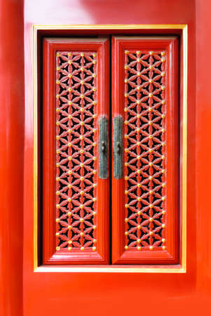Beautiful old traditional red chinese windows background