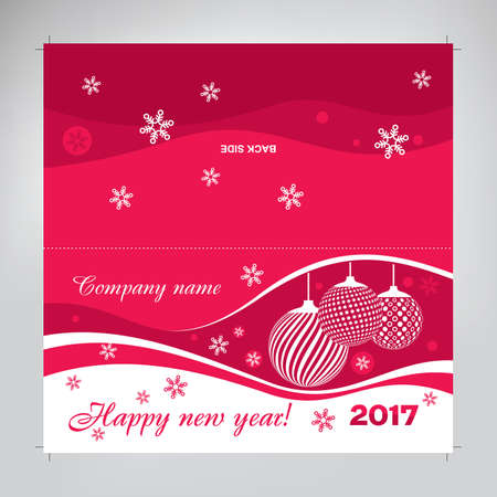 ready-made layout of a new year s card