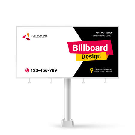 Stylish Billboard design, creative concept for placing photos and text