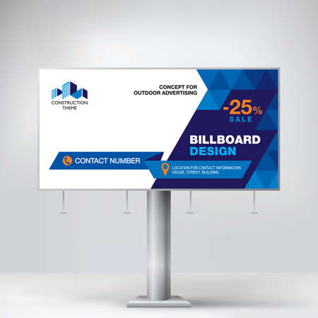 Billboard design, a modern Billboard for placing advertising information