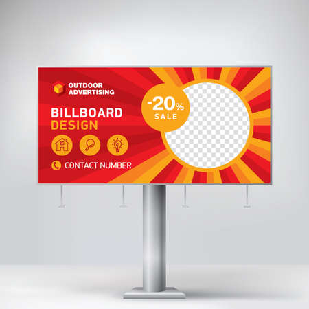 Billboard, template for advertising goods and services, creative design