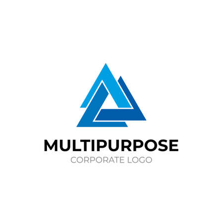 Logo template, on the theme of technology and development, fashionable modern style