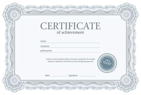 证书,文凭,现代几何设计设计