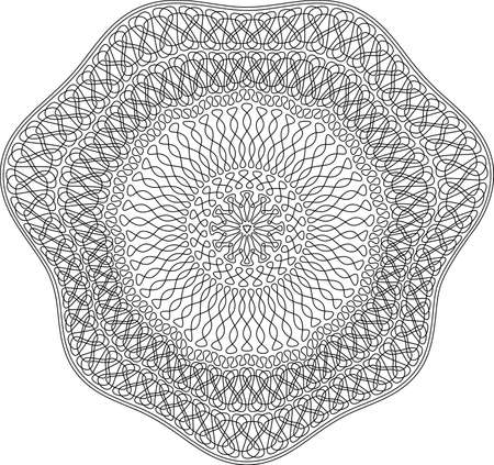 Guilloche pattern for securities protection, background vector