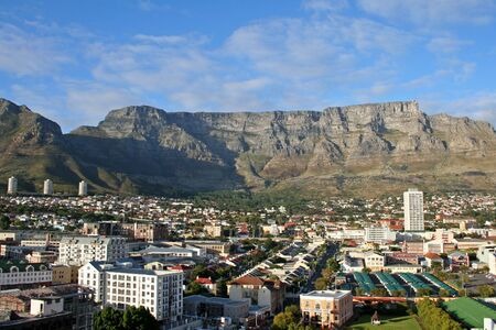 CITY VIEW WITH TABLE MOUNTAIN IN CAPE TOWN photo