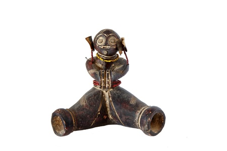 vodoo: African artifact isolated on a white background