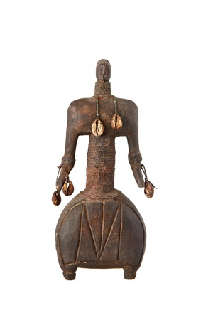 vodoo: African artifact of a man isolated on white background
