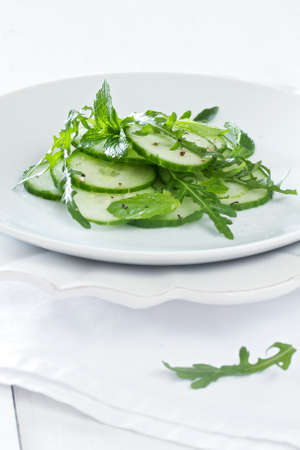 Cucumber salad with herbs