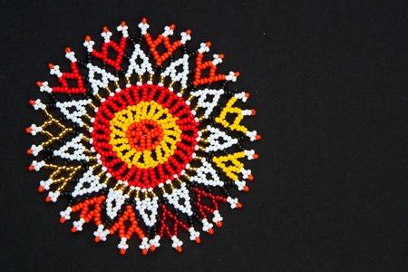 Kralen Afrikaanse ontwerp patroon met ruimte voor tekst