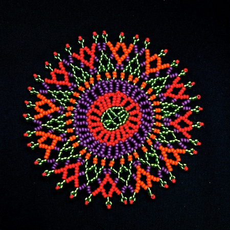 Colorful beaded African design pattern