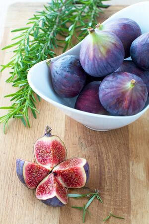 Fresh Figs in a bowl Stock Photo