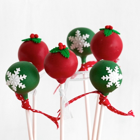 cake pops: Christmas Cake Pops  Stock Photo