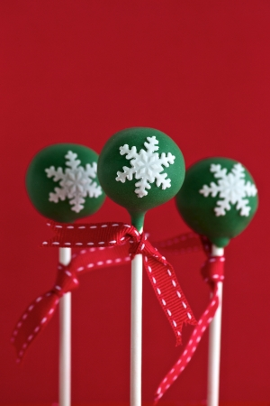 Green Christmas Cake Pops photo