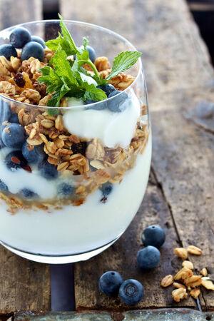 Yoghurt and Granola Berry breakfast