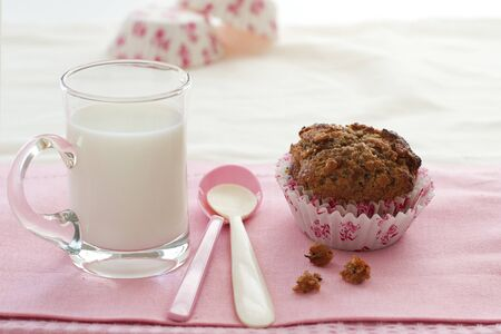 Breakfast Healthy Muffin and Milk