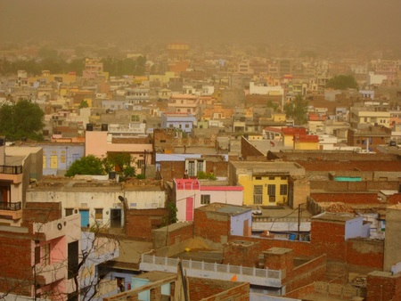 jaipur: Jaipur during a sandstorm