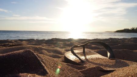 Flip flop on the beach 版權商用圖片