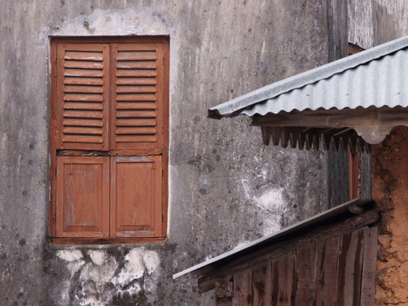shutters: Rugged Window and Shutters Stock Photo