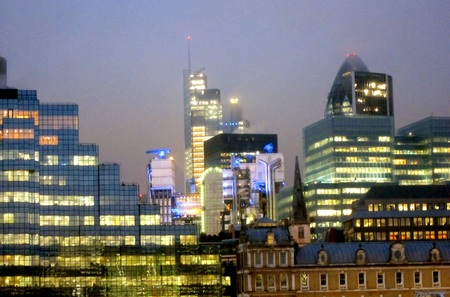 London offices at night