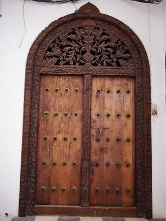 zanzibar: Traditional Zanzibar Door Stock Photo