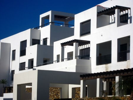 reside: Modern Spanish villa with traditional Andalucian architecture Stock Photo