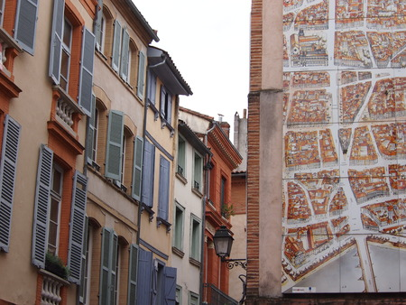 toulouse: Traditional French architecture in Toulouse Stock Photo