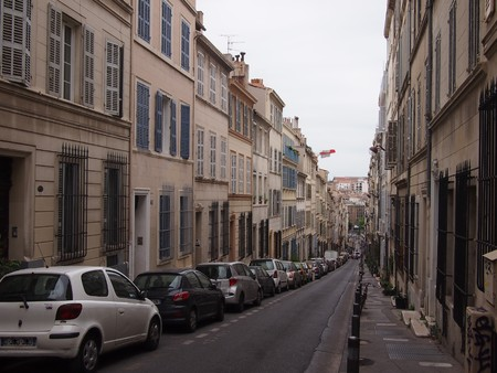 marseille: Typical French street in Marseille