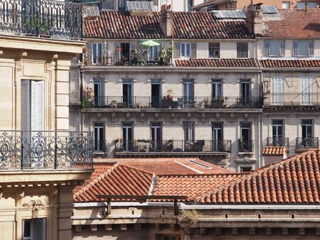bourgeois: Traditional French architecture and residential building Stock Photo