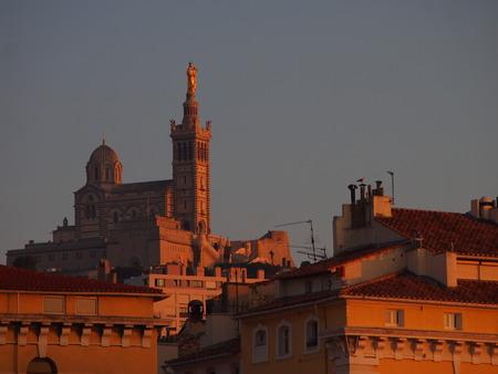 Marseille Notre Dames at sunset