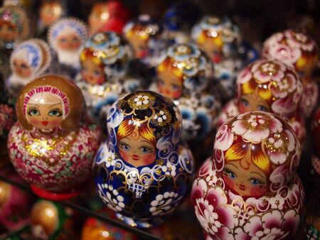 muñecas rusas: Traditional Russian dolls in Moscow