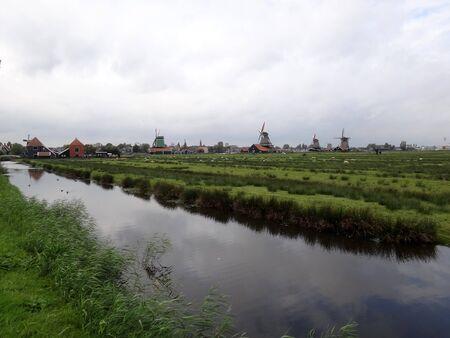 zaanse: Nederlandse landschap uitzicht op de Zaanse Schans
