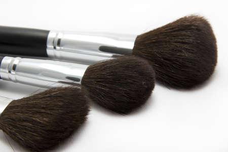 make up brushes: make up brushes on the white background