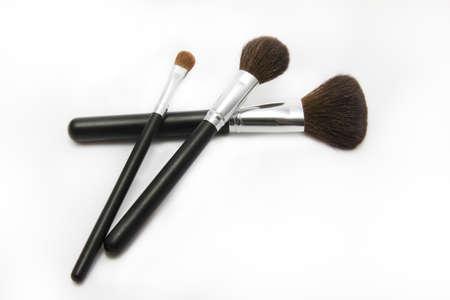 make-up penselen op de witte achtergrond