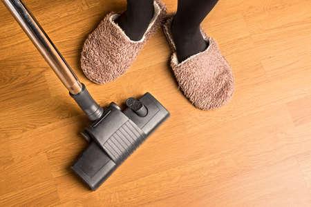 slipper: vacuuming