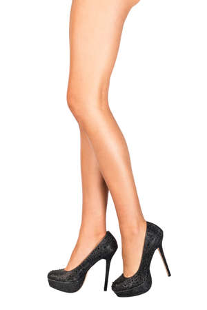 IPL - hair removal - woman in high heels photo
