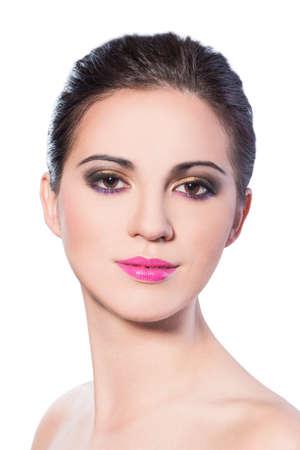 primer plano cara: Cara de la mujer de cerca