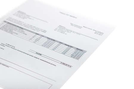 Invoice - Finances Stock fotó