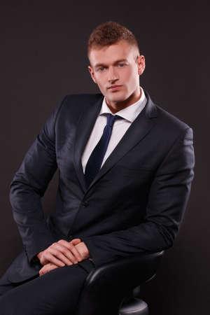 tempt: Handsome Man Stock Photo
