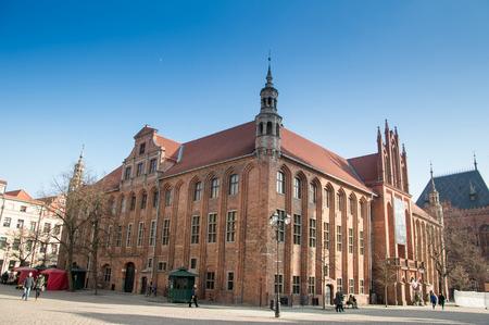 torun: Town hall in Torun, Poland