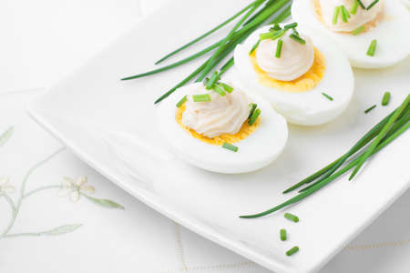 boiled eggs: Boiled Eggs With Mayonnaise