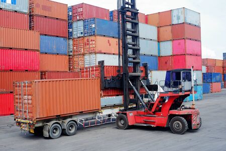 Carretillas elevadoras de contenedores Contenedores de almacenamiento para importación y exportación