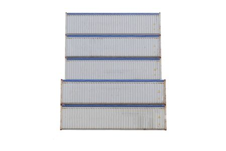 Container stack Cut white background Easy to use. Stock Photo
